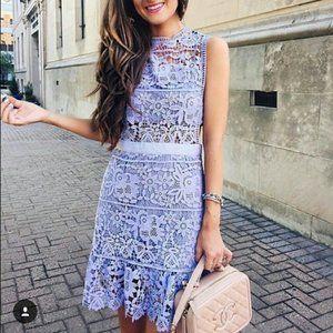 Goodnight Macaroon Purple Tyra Lace Cut Out Dress